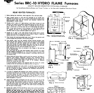 hydro flame brc 10a manual