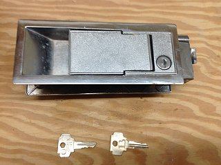 SOLD: Bargman door latch/lock - Fiberglass RV