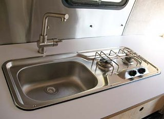 Install Stove Sink Combo Fibergl Rv