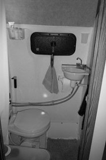Scamp 16 bathroom comparison - Fiberglass RV