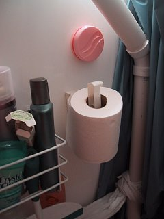 Storing Toilet Paper Roll in Toilet-Shower Combo - Fiberglass RV