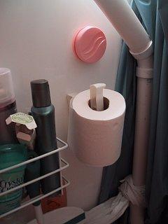 Storing Toilet Paper Roll in Toilet-Shower Combo - Fiberglass RV