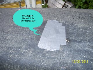 Roof, crack, first repair.jpg
