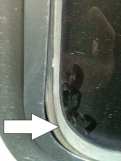 Uhaul outside window seal search - Fiberglass RV