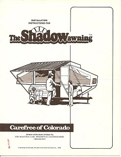 Carefree S Quot The Shadow Awning Quot Fiberglass Rv