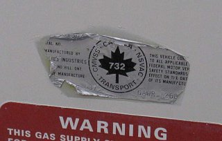 Reduced - 1974 - Trillium 1300 - 4800CDN - Outside -  Front - Manufacture Date Sticker.jpg