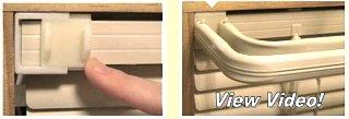 Slide On Curtain Rod Brackets For Mini Blinds Fiberglass Rv