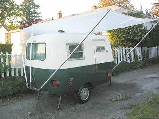 DIY HomeMade Canopy for Boler 1300 - Fiberglass RV