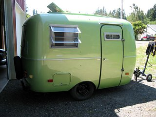 Scamp 39 S New Coat Of Paint Fiberglass Rv