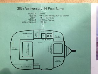 AZ SOLD 1999 14 Burro Wide Body Travel Trailer