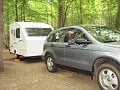 Picture from my Cabin-A and My Honda CRV at Fairy Stone State Park, Virginia
