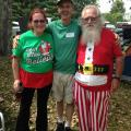 Mrs Claus, Jim and Santa