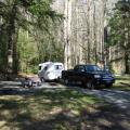 Our little campsite at Smoky National Park - rustic site, but so peaceful and quiet