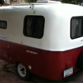 Finished painting the exterior of my Scamp Today!