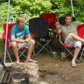 On the right, youngest son, Tucker and his friend, Wesley. Adirondacks, NY