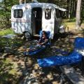 Relaxing at the KOA Oceanside on Mt. Desert Island, ME.